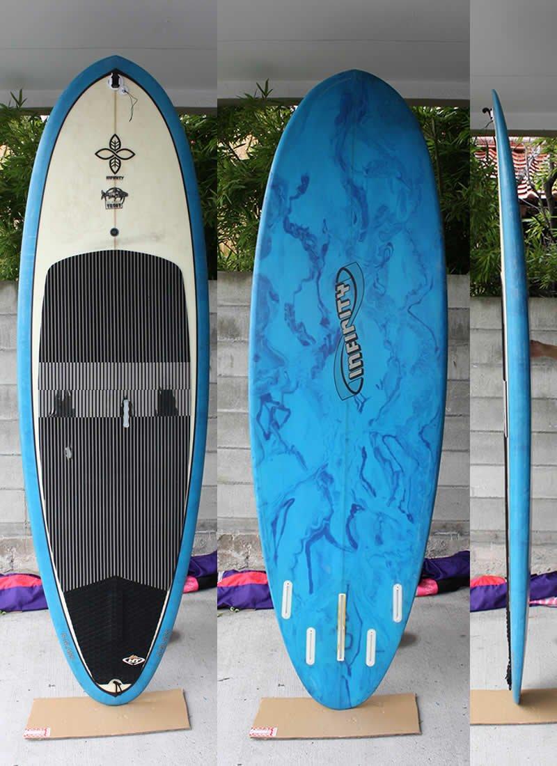 INFINITY(インフィニティ) SLATERTROUT SUP [BLUE/CLEAR] 255cm スタンドアップパドルボード サイドFIN付 B0749BQ3GV