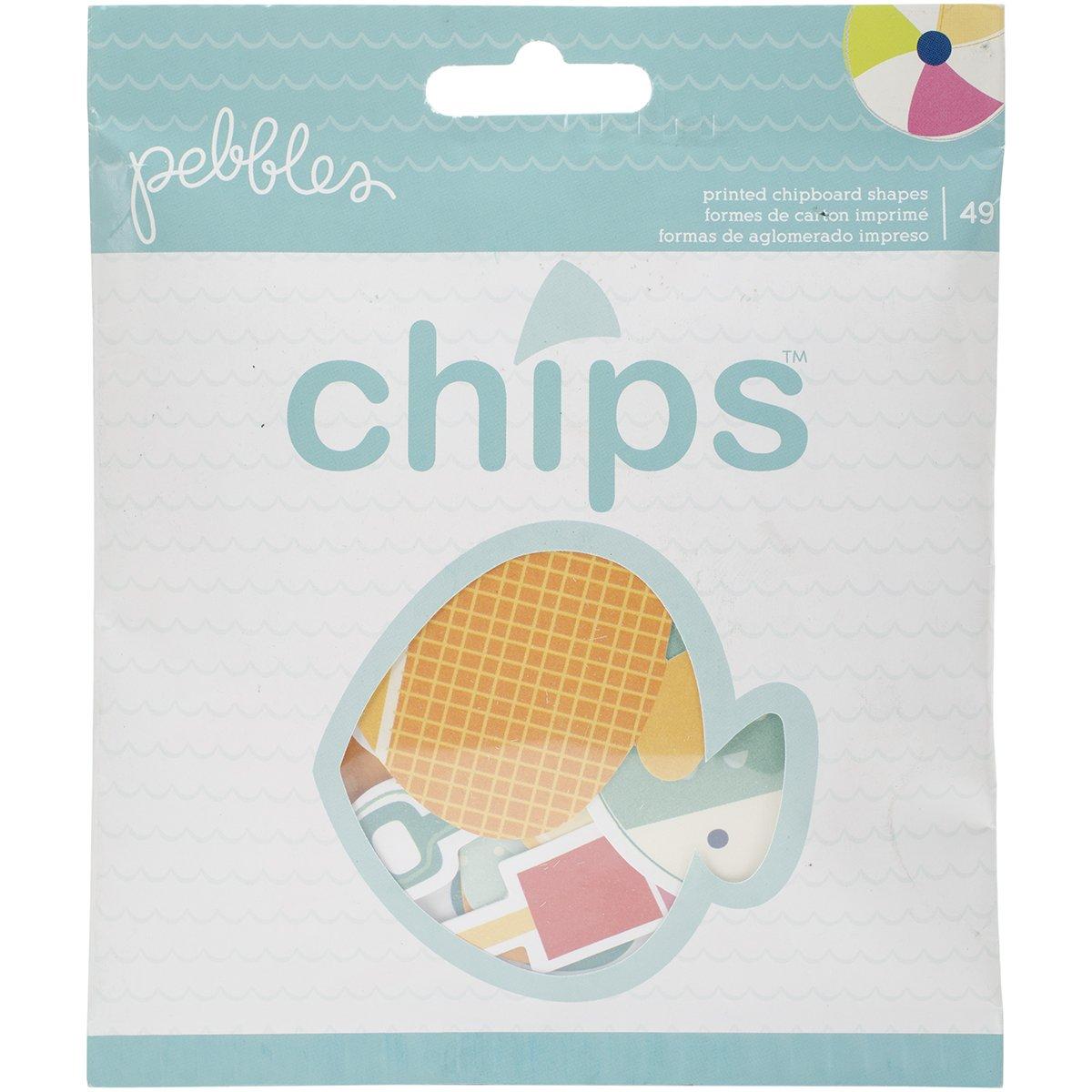 American Crafts Chipboard Fun In The Sun Chips Die-Cut Shapes 4-Ephemera 732835
