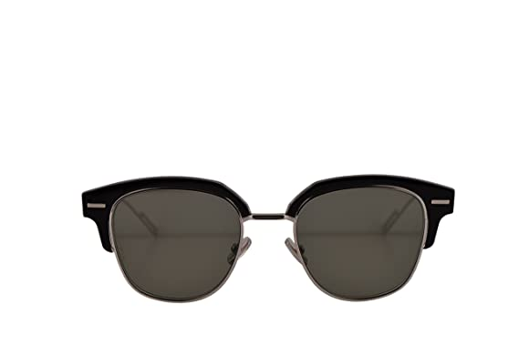 f7c5acba12 Image Unavailable. Image not available for. Color  Christian Dior Homme  DiorTensity Sunglasses Black Crystal w Grey Lens ...