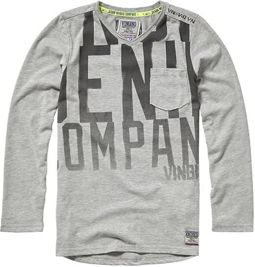 039ecffb772d9 Vingino - T-Shirt à manches longues - Homme Gris Gris 32  Amazon.fr ...