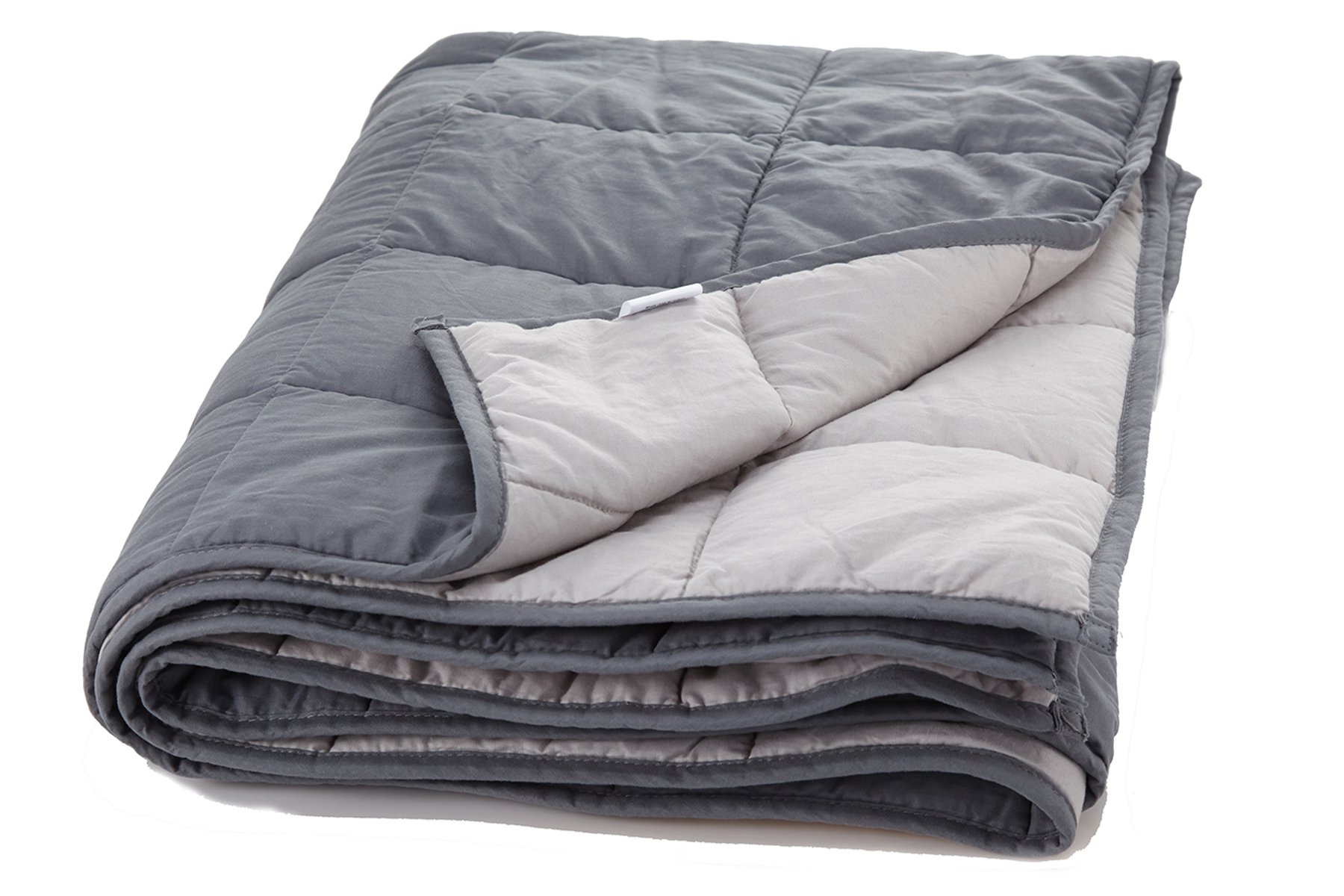 "Weighted Blanket Sensory Solutions for Adults and Kids | Size Large 15 lbs 48"" X 72"" Dark Grey 