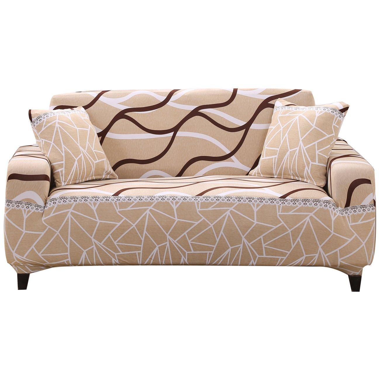Copridivano 1/2/3/4posti divano divano fodera poltrona tratto Love Seat Covers Couch Settee Furniture Protector, Tessuto, Pattern #1, 1 Searter FORCHEER