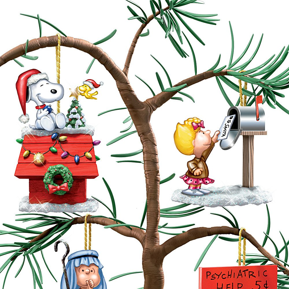 Amazon.com: Tabletop Tree: PEANUTS Classic Holiday Memories Tabletop ...