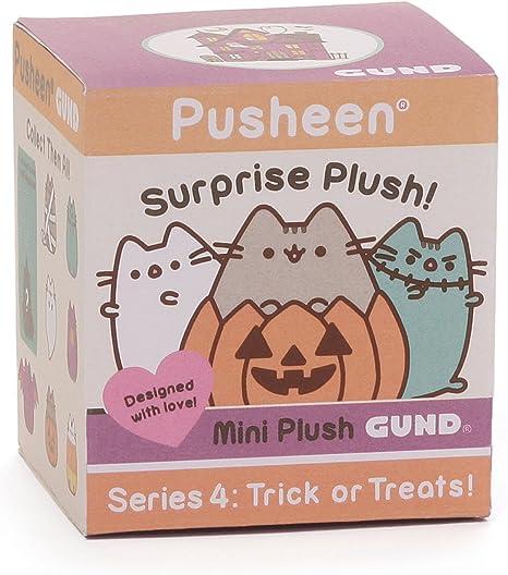 "Holding Pumpkin GUND Series 4 Pusheen Blind Box Plush /""Trick or Treats!/"""