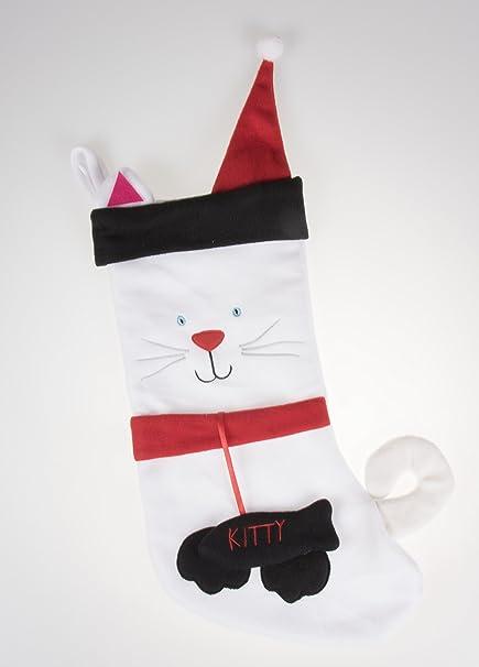 amazon com kitty cat soft plush cloth hanging christmas stocking