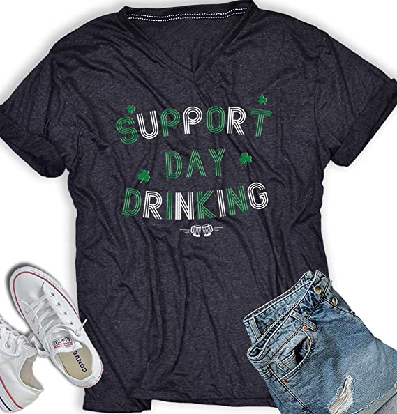 d2c4310f AllBirthDayGift Support Day Drinking Tshirt St Patricks Day Women Irish Funny  Drinking Shirts Men V Neck