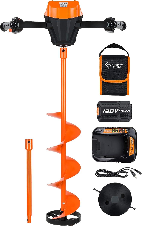 Trophy Strike 107387 120V Li-Ion Cordless Ice Auger Drill Kit