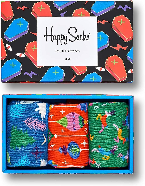 Happy Socks Singing Retro Holiday Gift Box Calcetines, Multicolor ...