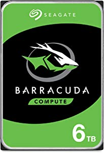 Seagate Barracuda 6TB Internal Hard Drive HDD – 3.5 Inch SATA 6 Gb/s 5400 RPM 256MB Cache for Computer Desktop PC (ST6000DM003)