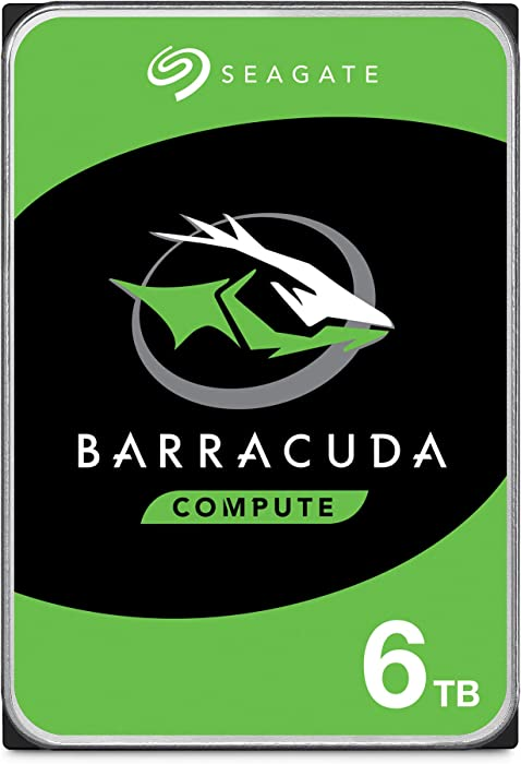 Seagate BarraCuda 6TB Internal Hard Drive HDD – 3.5 Inch SATA 6 Gb/s 5400 RPM 256MB Cache for Computer Desktop PC – Frustration Free Packaging (ST6000DM003)