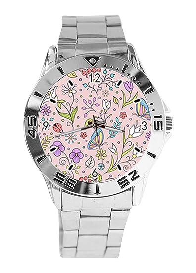 Reloj de Pulsera analógico con diseño de Mariposas y Hojas ...