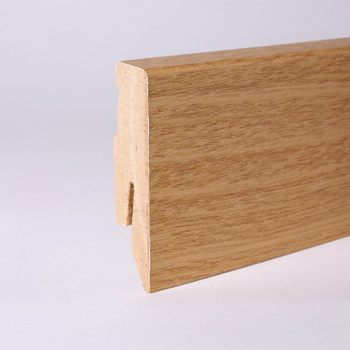 50m Sockelleisten 60mm All Inclusive Paket Eiche