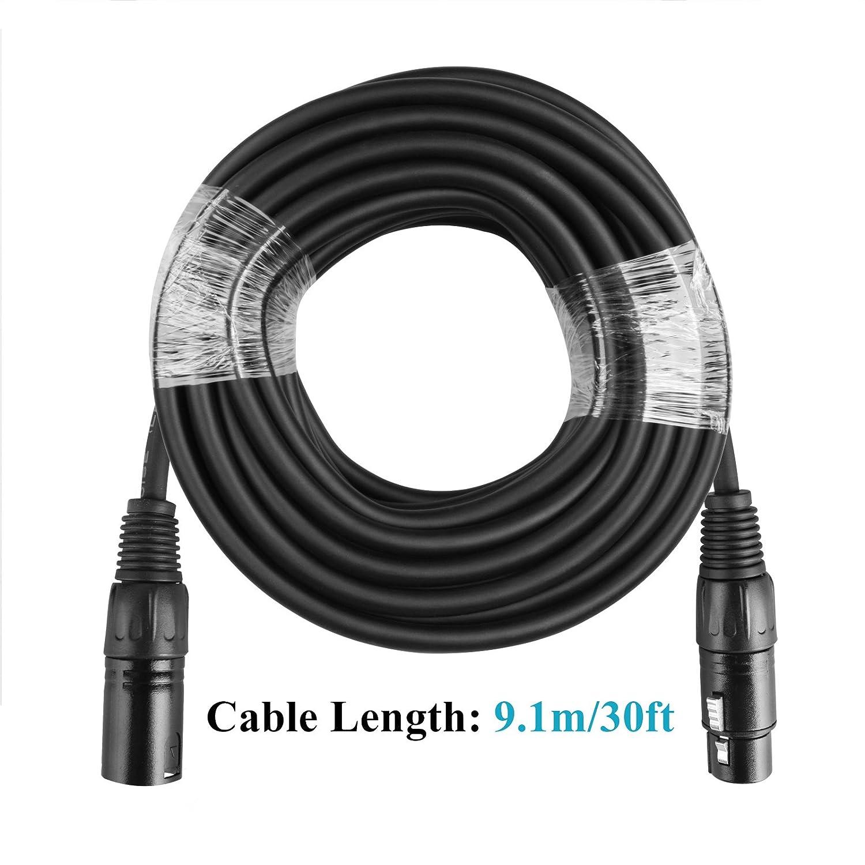 9,1/m c/âble DMX 3/broches Signal XLR DMX Stage Light Fil de c/âble pour spot par lumi/ère T/ête Mobile