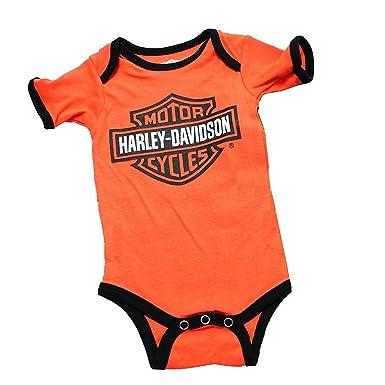 Harley Davidson Baby Clothes Stunning Amazon Harley Davidson Baby Boys Classic Logo OrangeBlack