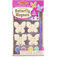 Melissa & Doug Decorate-Your-Own Wooden Butterfly Magnets Craft Kit