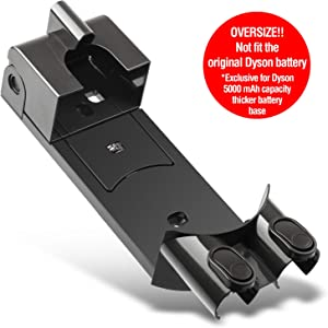 ENEGON Oversized Wall Mount Bracket Docking Station for Dyson V6 DC34 DC35 DC58 DC59 DC61 DC62 Handheld for Thicker 5000mAh Capacity Battery Replacement - Replenishment Vacuum Cleaner Accessories