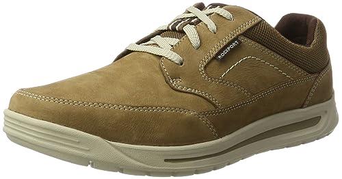 Rockport Randle Mudguard Lea Mocasines Hombre, Beige (new Vicuna), 41 EU: Amazon.es: Zapatos y complementos
