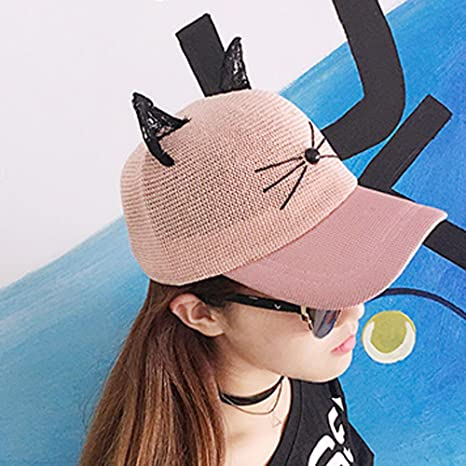 Amazon.com: Adjustable Sport Mesh Cap Sun Hat, ZOMUSAR Women Baseball Outdoor Net Rabbit Ears Cap Sun Hat (Pink): Arts, Crafts & Sewing
