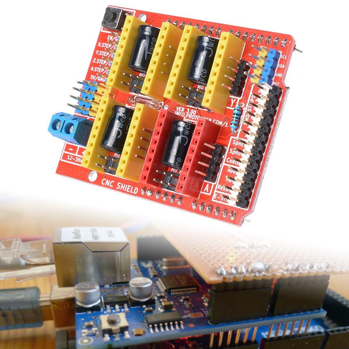 DollaTek CNC Arduino Escudo A4988 V3 Grabador Expansión Placa ...