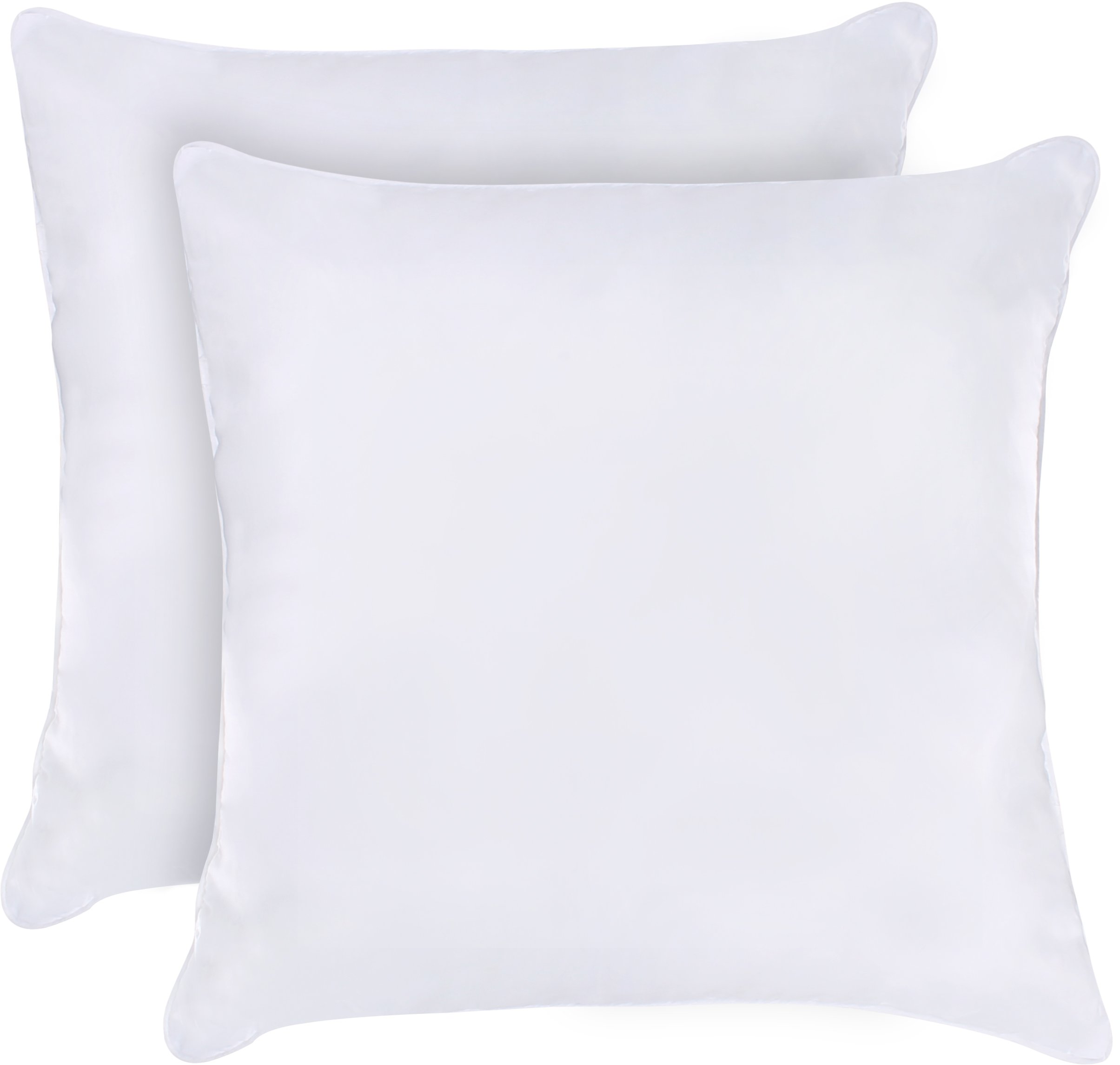Utopia Bedding Decorative Pillow Insert (Pack of 2, White) - Square 18 x 18 Inches Sofa and Bed Pillows by Utopia Bedding