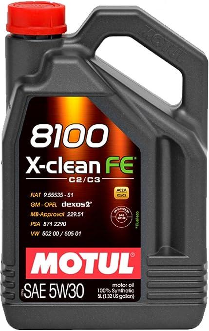 Motul - Aceite 8100 x-Clean fe 5w30 (acea c2/c3) 5l: Amazon.es ...
