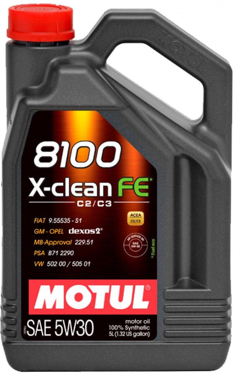 Motul –  Huile 8100 x-clean fe 5w30 (acea c2/c3) 5 L 104777