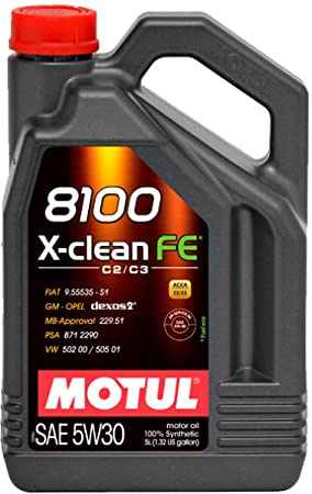 Motul - Aceite 8100 x-clean fe 5w30 (acea c2/c3) 5l: Amazon.es: Coche y moto