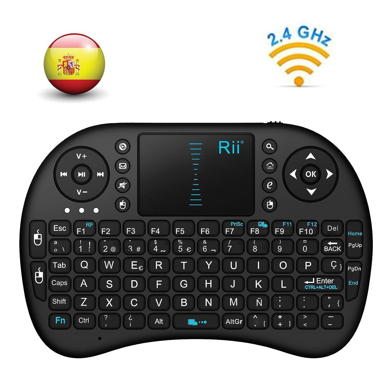 Rii Mini i Teclado ergonómico con touchpad RF  GHz USB color