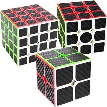 COOJA Cube Pack 2x2 3x3 4x4, Speed Cube Fibra Carbono Cubo ...
