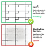 Magnetic Calendar for Fridge - Dry Erase Whiteboard for Kitchen Refrigerator, 12 x 16 Easy Dry Erase Weekly Planner & Notes with 4 Fine Markers and Eraser-Perfect Planner To Stay Organized