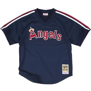 a5323584a Mitchell & Ness Men's 1984 California Angels Reggie Jackson #44 Mesh Batting  Practice Jersey Extra