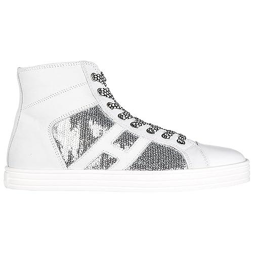 Hogan Rebel Sneakers Alte Donna Argento Bianco 35 EU  Amazon.it  Scarpe e  borse 50c21940c23
