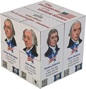 U.S Presidents Infinity Cube - Original, Fun 3D Educational for Kids and Adults - Learn About 22 American Presidents in an Easy and Entertaining Way - for History Buffs Set#1