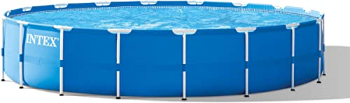 Intex 18ft x 48in Metal Frame Pool Set with Filter Pump, Ladder, Ground Cloth Pool Cover