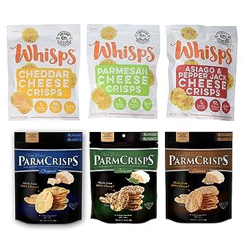 Cello Whisps & Kitchen Table Bakers ParmCrisp Assortment Bundle, 6 Bags,  Low Carb, Keto...