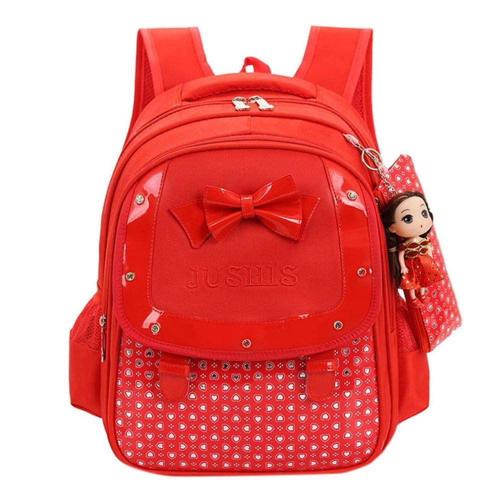 Girl School Bags 3 Pcs/Set New Waterproof Cute Dot Lightweight School Backpacks for Kids Children