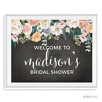 amazon com andaz press peach chalkboard floral garden party wedding