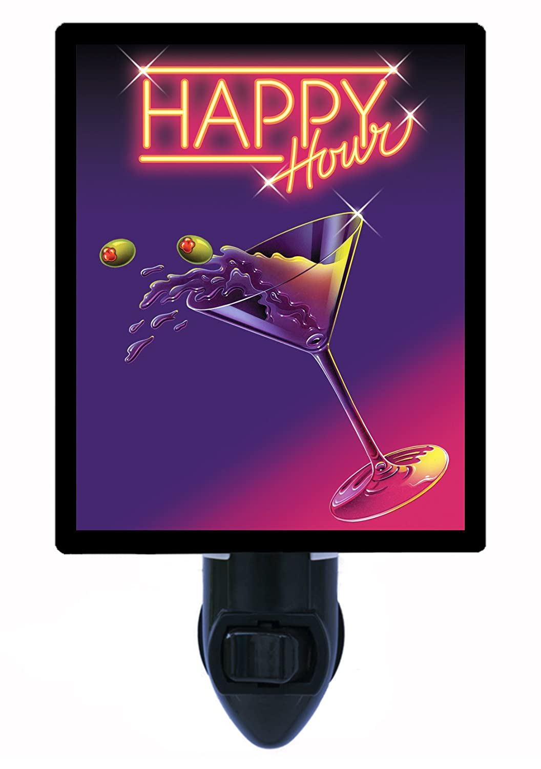 キッチンとバーNight Light – Happy Hour – Martini B005DEU4CC