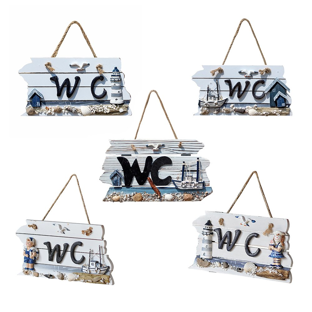 Amazon.com: 1Pc Fuuny Handmade Wood Hang Toilet Signage Sign ...