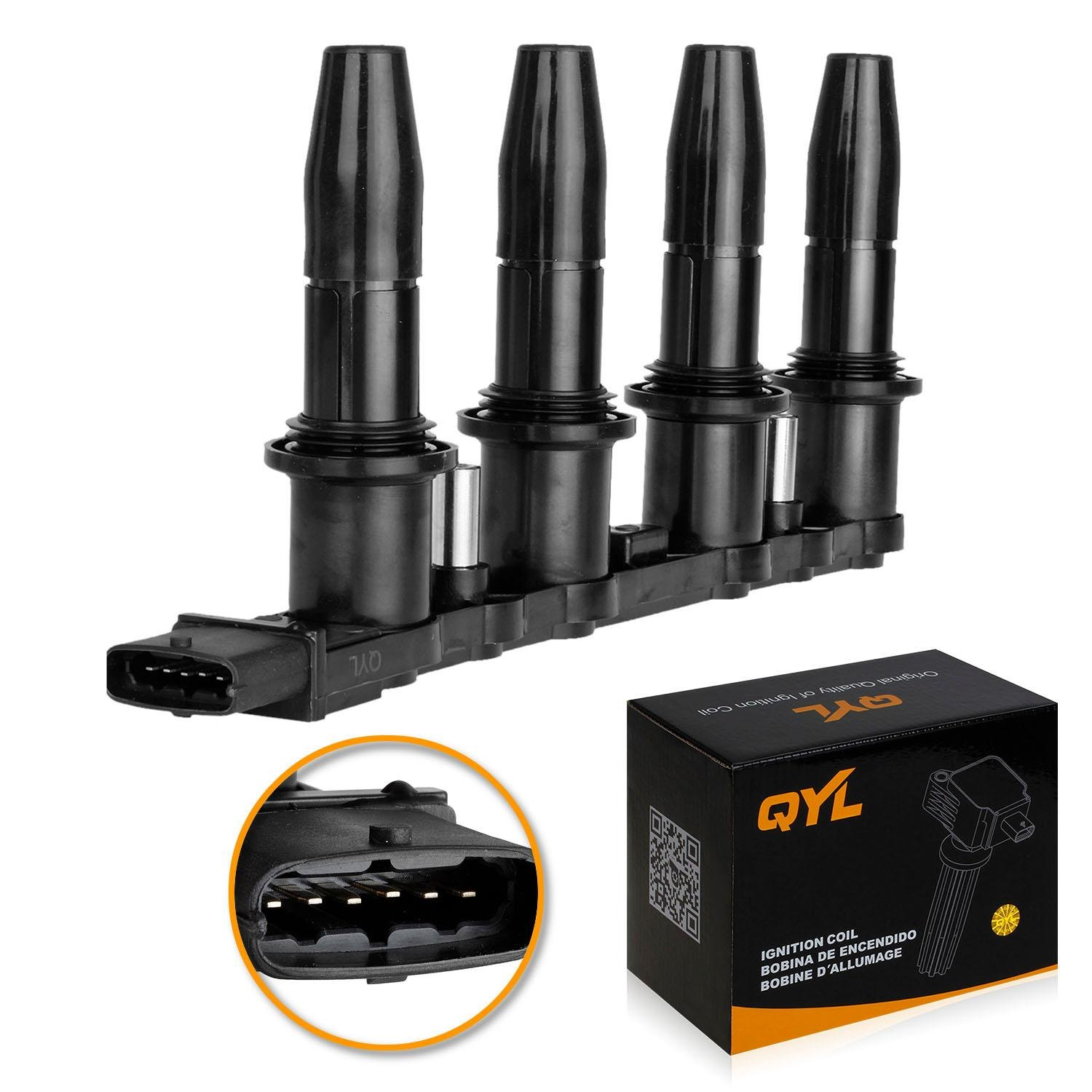 QYL Ignition Coil Pack for 2008 2009 Saturn Astra 1.8L I4 UF606 5C1763 C1706 522118 UF-606 by QYL