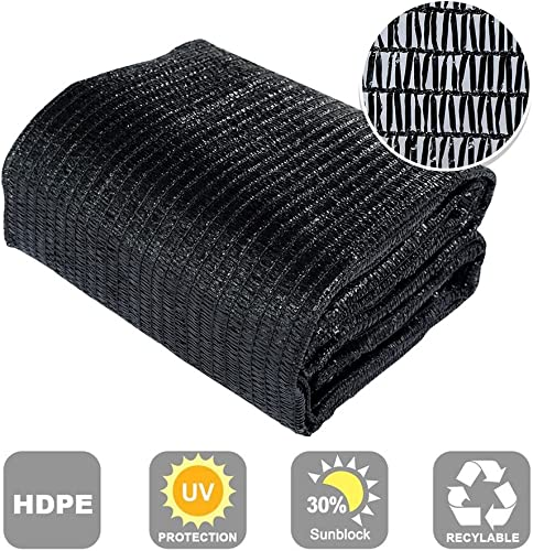 Agfabric 30 Sunblock Shade Cloth Cover with Clips for Plants 6.5 X 20 , Black