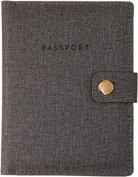 Cat Grass Dandelion Hide Leather Passport Holder Cover Case Travel One Pocket