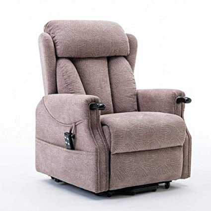 Cool Denmark Dual Motor Electric Riser And Recliner Chair With Wooden Knuckles Choice Of Colours Mocha Gmtry Best Dining Table And Chair Ideas Images Gmtryco