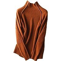 Suéter de Lana cálido para Mujer, Jersey de Cuello Alto, a Prueba de Viento, Grueso, Liso, jerséis de Rowan, suéteres de…