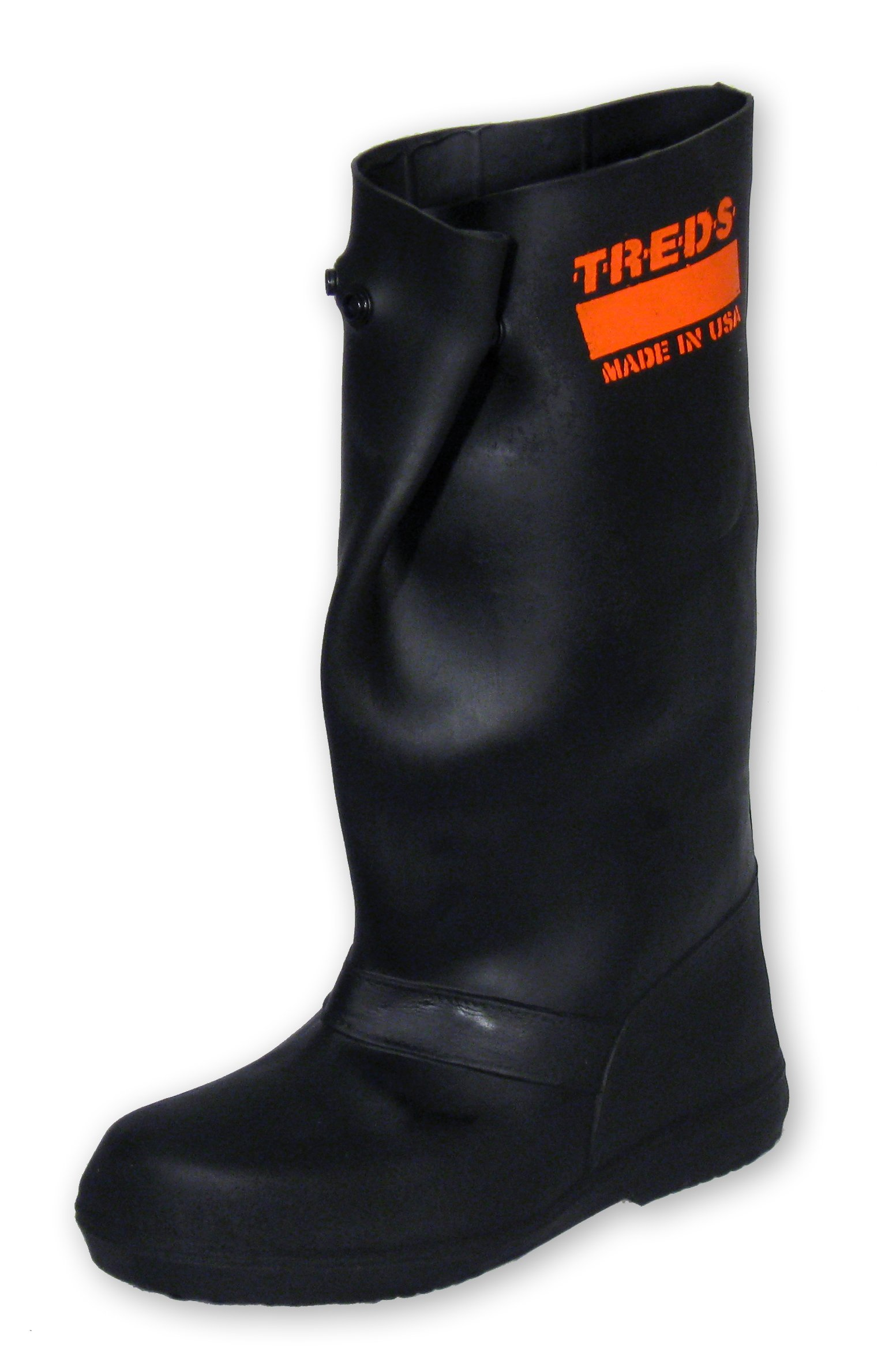TREDS Super Tough 17'' Pull-On Stretch Rubber Overboots for Rain, Slush, Snow and Construction, Size Large/X-Large by Treds