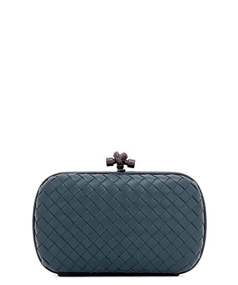 8c0be0d44297 Image Unavailable. Image not available for. Color  Bottega Veneta Women s  498478V00164411 Blue Leather Clutch