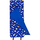 Wildkin Original Nap Mat, Features Built-In Blanket and Pillow, Perfect for Daycare and Preschool or Napping On-the-Go, Olive Kids Design – Out of this World