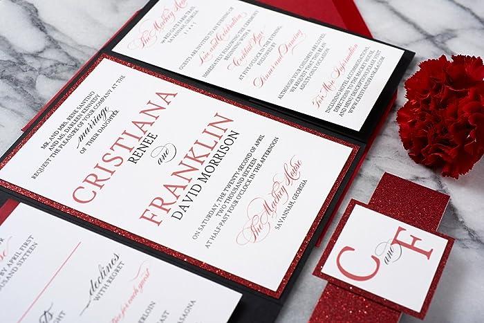 Amazon Com Custom Fancy Wedding Invitations Formal Wedding Card