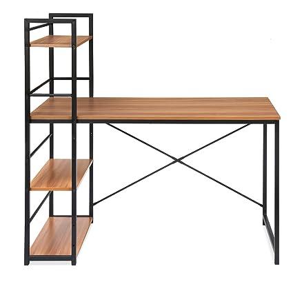 Home By Nilkamal Dalton Study Table With Book Shelf Walnut