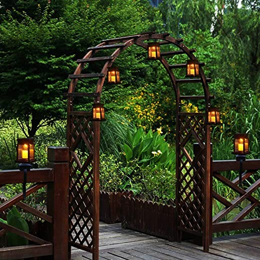 Lailongp - 8 cadenas de luces solares para jardín, terraza, césped ...